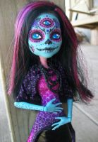 Monster High Three Eyed Day of the Dead Custom by AdeCiroDesigns