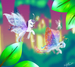 Commission - Rare Aria Wings by FuyusFox