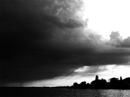 Oulton Broad - Black and White by willmeister42