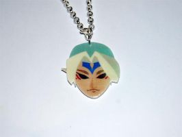 The Legend of Zelda Fierce Deity Mask Necklace by knil-maloon