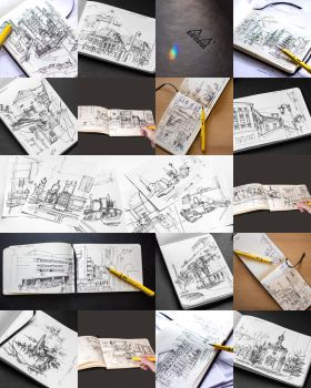 A bunch of sketches (2015) by Andette