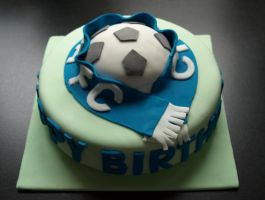 Chelsea FC Cake by sparks1992