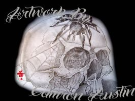 skull and spider by CamShafty