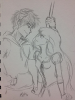 RotBTD - Jack and Rapunzel WIP by Blue-Starr