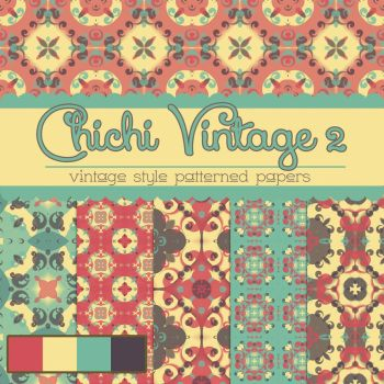 Free Chichi Vintage 2 Patterned Papers by TeacherYanie