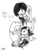 Marceline and Finn Vidya by SIRCollection