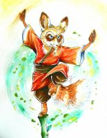 Graduation card: Master Shifu by RoutArt