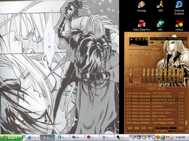 Sephiroth and Vincent Desktop by silvahness