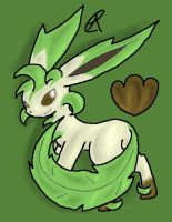 Leafeon Journal Skin Top by AbyssinChaos
