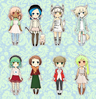 ADOPTABLES SET 2 (2 left) by mikimanni