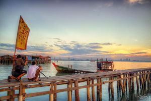 Sunrise of Tan Clan Jetty, Penang by fighteden