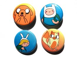 adventure time buttons by michellescribbles
