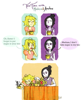 tea time with medusa and arachne by onthefritz