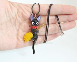 Jiji Cat Polymer Clay Necklace by ArtzieRush