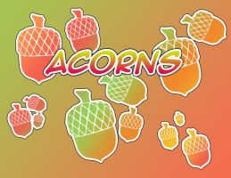 Acorns - Photoshop Shapes by Trinamon