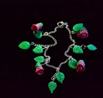 Rosebuds and Leaves Bracelet by MayEbony
