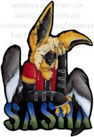 Sasha Bust Badge 08 by AirRaiser
