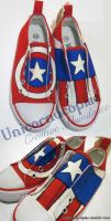 Captain America Shoes by unicornucopiae