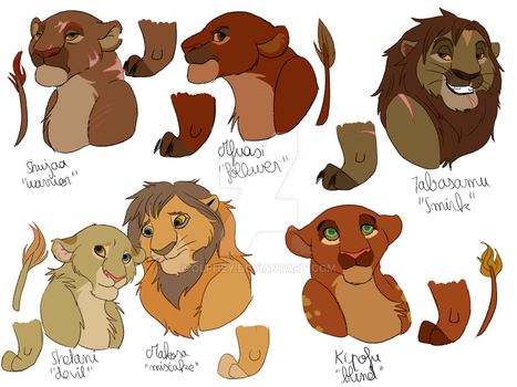 Bunch of characters 3/8 - Rockylanders by Olphey