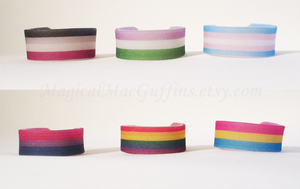 LGBTQA Pride Wrap-around Rings by confidentsoba