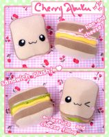 Sandwich Plushies by CherryAbuku