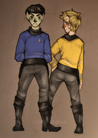Star Trek Kirk and Spock by cannorachan