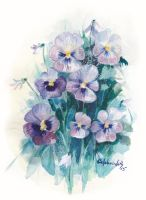 Pansies by Lanevska