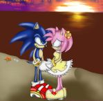 SonAmy,Blue and Pink forever by ElinaSvensson