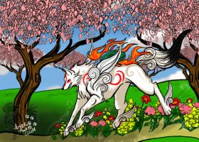 Cherry blossoms :Amaterasu: by PinkScooby54
