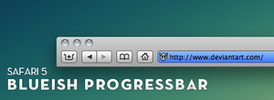Safari 5 - blueish Progressbar by larzon83