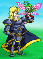 Art Test - Sir Dufius and The Fairy by Bradshavius