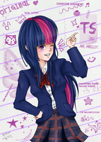 Twilight Sparkle: School version by JenYeonGI