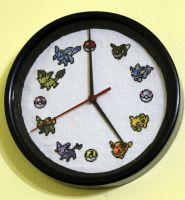 Eevee Clock by StitchPlease