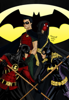 Robin And Batgirl Fightnight by RevafallArts