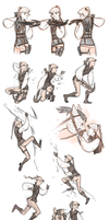 Dailies 3: Hunting poses by Corade