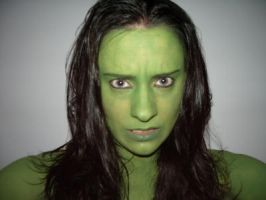 Elphaba Make Up by nelphaba