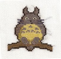 Totoro Cross Stitch by SarAnna2195