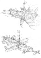 Airship sketches 2 by JanBoruta