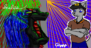 Iscribble With Gryff by blackminorscales