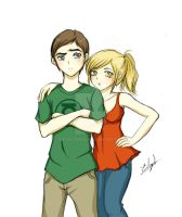 Sheldon and Penny (TBBT) by Eilyn-Chan