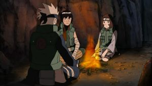 Young Kakashi Hatake, Might Guy and Rin by TheBoar