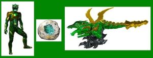 Power Ranger Movie Green Ranger and Dragonzord by Greencosmos80