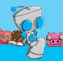 GIR with pig and cucakes by haydenchristensenfan