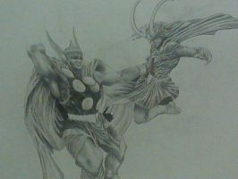 unfinished Thor and Loki by HeWhoStarvesOften