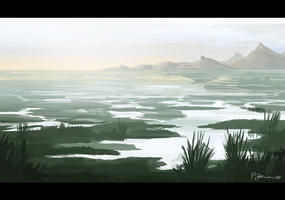 Dead Marshes by Kaffeebohnson