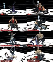 Pro Wrestling poses by redfield37
