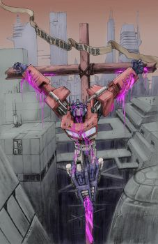 Optimus Cybertron's Savior by TGping