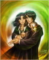Harry and Pansy by daekazu
