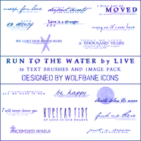 Run to the Water Text Brushes by jordannamorgan