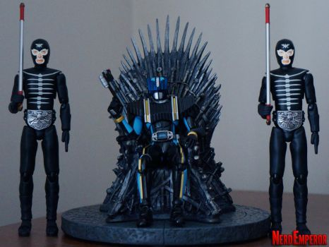 Kamen Rider Diend on the Iron Throne by ZaEmpera